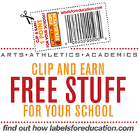 Campbell's Labels for Education- Clip and Earn FREE STUFF For Your School
